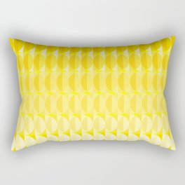 Leaves in the sunlight - a pattern in yellow Rectangular Pillow