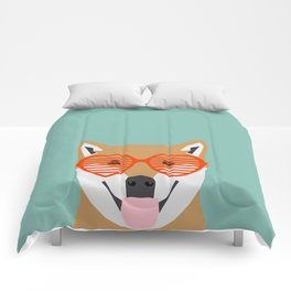 Shiba Inu Love - Gifts for pet owners dog person gifts shiba inu gifts customizable dog gifts cute Comforters