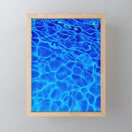Blue Water Abstract Framed Mini Art Print