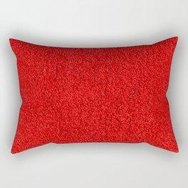 Rose Red Shag pile carpet pattern Rectangular Pillow