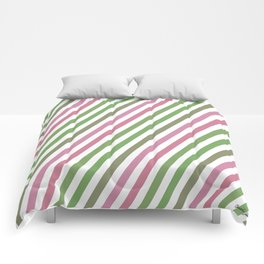 Pink Roses in Anzures 4 Stripes 1B Comforters
