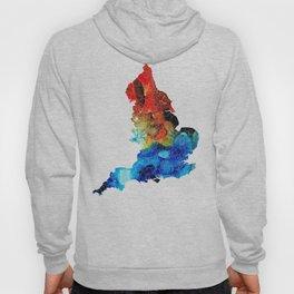 England - Map of England by Sharon Cummings Hoody