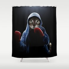 Boxing Cool Cat Shower Curtain