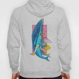 Angel and blue whale Hoody