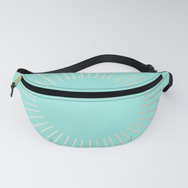 Simply Sunburst in Tropical Sea Blue Fanny Pack