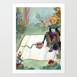 Feed The Snakes Art Print