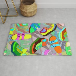 seamless pattern with shoes Rug