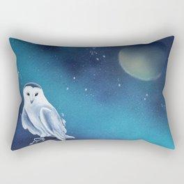 White owl Rectangular Pillow