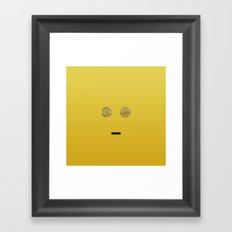 minimalist c3po Framed Art Print