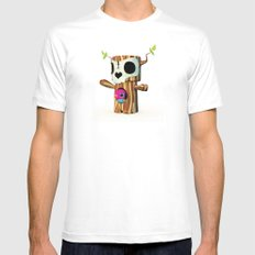 The TreeBorn Gang MEDIUM White Mens Fitted Tee
