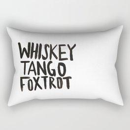 Whiskey Tango Foxtrot Rectangular Pillow
