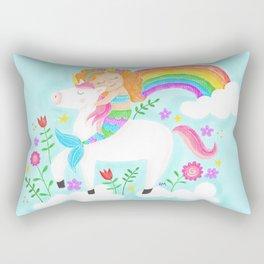 Unicorns, Mermaids & Rainbows...Oh My! Rectangular Pillow