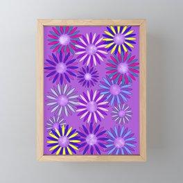 Ultra Violet Floral Poetry Framed Mini Art Print