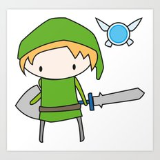 Link - The Legend of Zelda Art Print