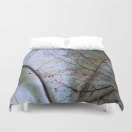 Tree reflection on its leaf Duvet Cover