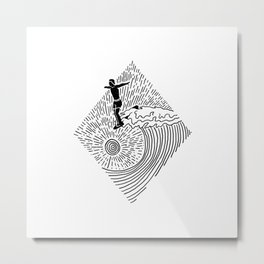 Surf Nose Metal Print