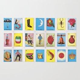 Mexican Loteria Card Tarot Card Game Design Spanish Rug