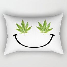 Weed Smile Rectangular Pillow