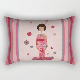 Kokeshi Geisha Japan Rectangular Pillow