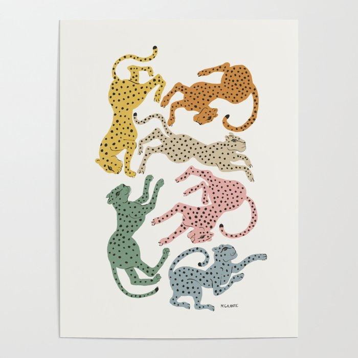Rainbow Cheetah Poster