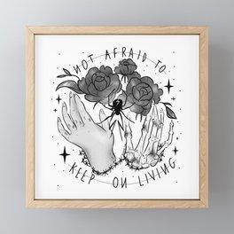 Not Afraid Framed Mini Art Print