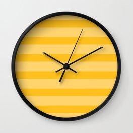 Sunny Yellow Stripes Wall Clock