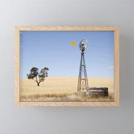 Australian Wheat-field Rural Landscape Framed Mini Art Print