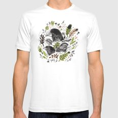 DARWIN FINCHES White Mens Fitted Tee MEDIUM