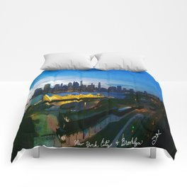 New York City as viewed from the Beautiful Brooklyn Heights Comforters