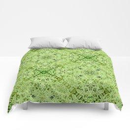 Green Mandala Comforters