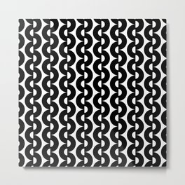 Modern abstract geometrical black white pattern Metal Print