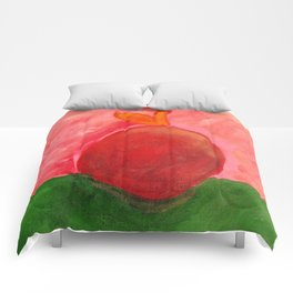 The Apple - Painting by young artist with Down syndrome Comforters