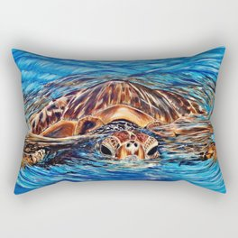 """""""Honu"""" Rectangular Pillow"""
