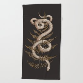 The Snake and Fern Beach Towel