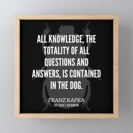 87  |  Franz Kafka Quotes | 190517 Framed Mini Art Print