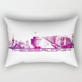 Thessaloniki skyline city purple Rectangular Pillow