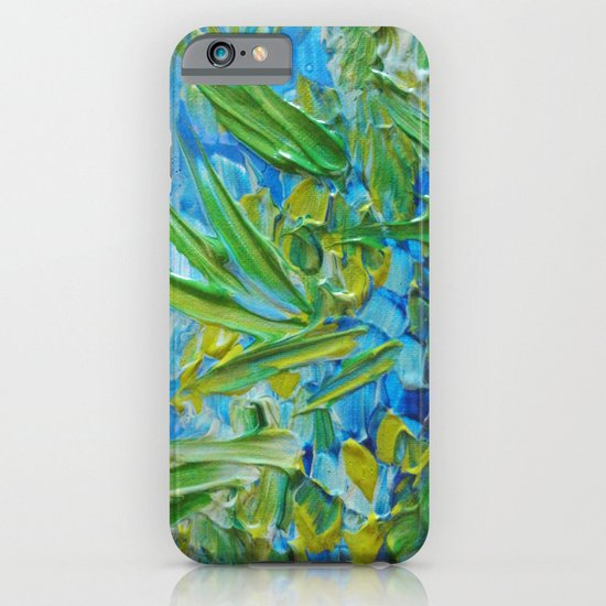 LAKE LOVE - Beautiful Relaxing Turquoise Blue Green Seaweed Chic Decor Gift for Him Acrylic Painting iPhone & iPod Case