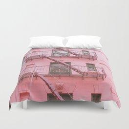 Pink Soho NYC Duvet Cover