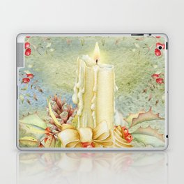 Christmas vintage candle Laptop & iPad Skin