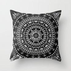Licorice Mandala Throw Pillow