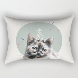 Calico Cat Birthday Rectangular Pillow