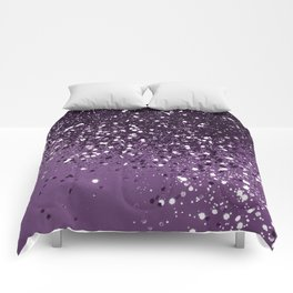 PURPLE Glitter Dream #1 #shiny #decor #art #society6 Comforters
