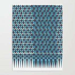 Cubist Ornament Pattern Poster