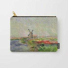 "Claude Monet ""Tulip field in Holland (Champ de tulipes en Hollande)"" Carry-All Pouch"