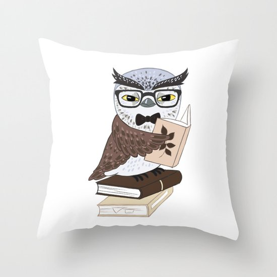 Professor Owl Throw Pillow