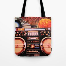 Planetary Boombox Tote Bag