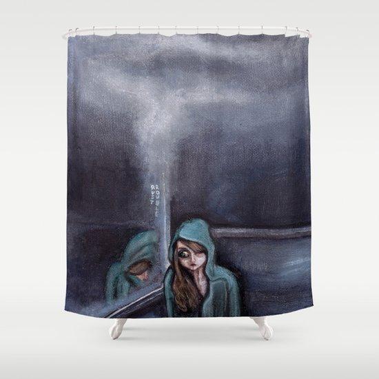 never go home (homesick) Shower Curtain