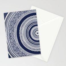 Denim Mandala Stationery Cards