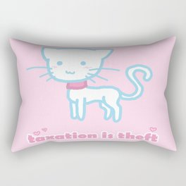 Taxation Is Theft Kitty Rectangular Pillow