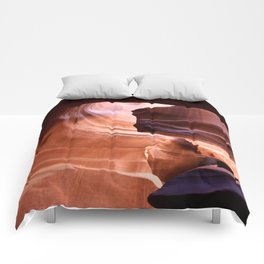 Antelope Canyon Reddish And Blue Tones Comforters